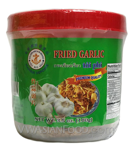 Golden Anchor Fried Garlic 3.5 oz (24-Count)