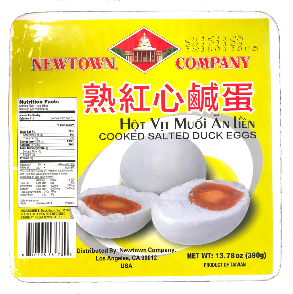Newtown Company Cooked Salted Duck Eggs, 13.78 oz, 6 Pieces (24-Count)