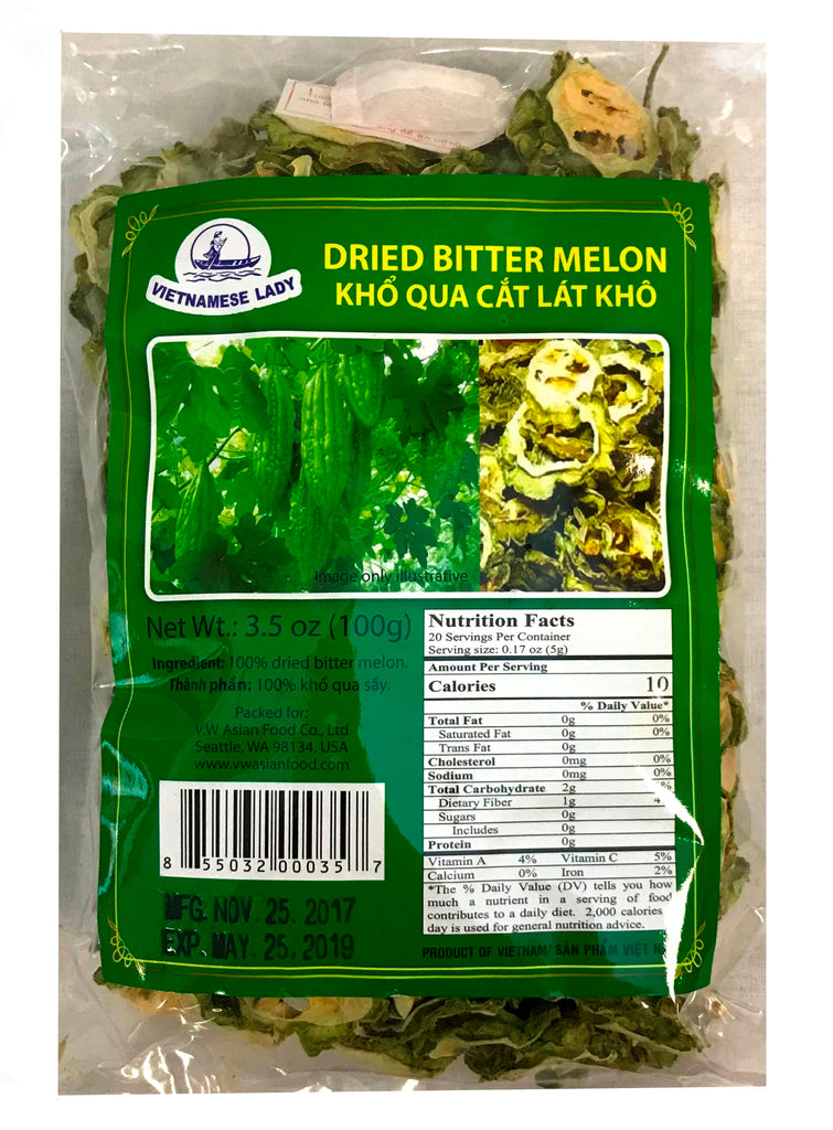 Vietnamese Lady Dried Bitter Melon, 3.5 oz (24-Count)