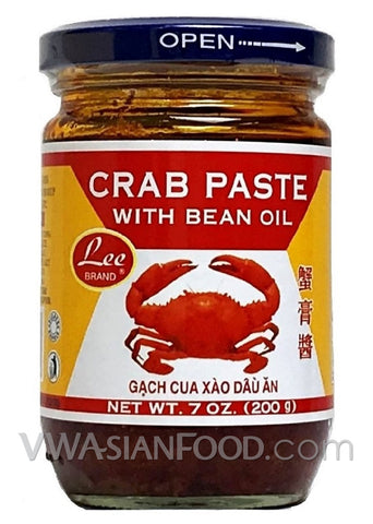 Lee Crab Paste with Bean Oil, 7 oz (24-Count)