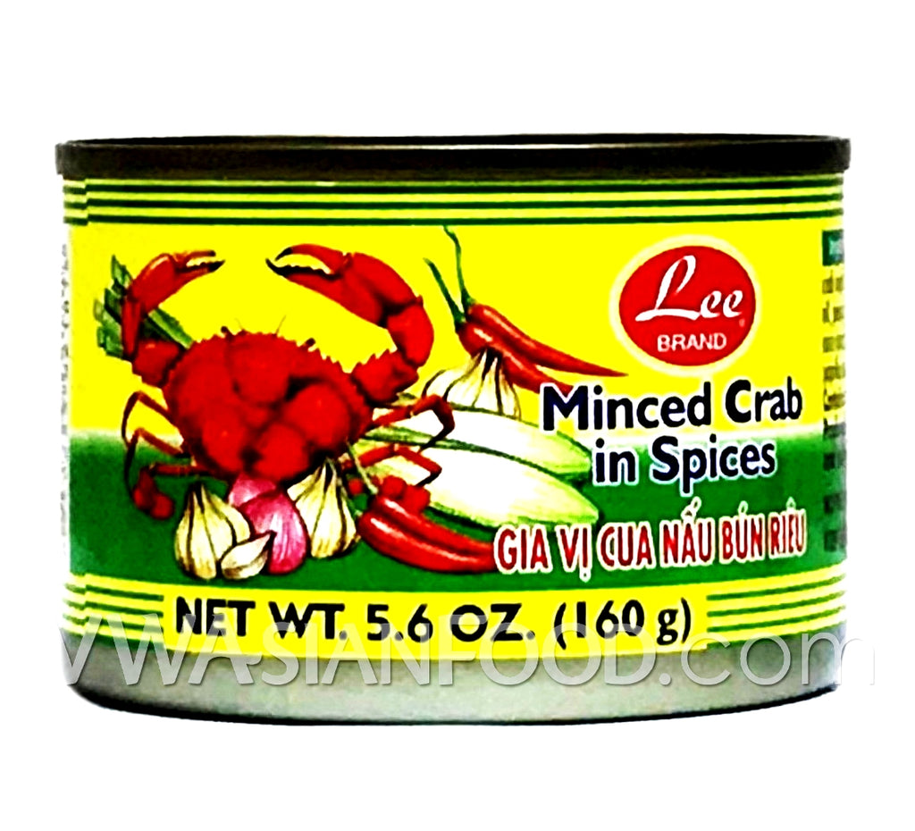 Lee Minced Crab in Spices, 5.6 oz (48-Count)