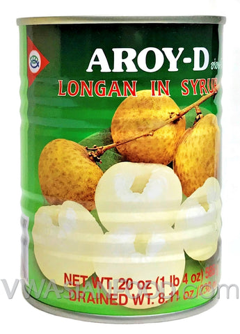 Aroy-D Longan in Syrup, 20 oz (24-Count)