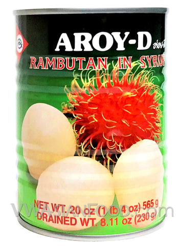 Aroy-D Rambutan in Syrup, 20 oz (24-Count)