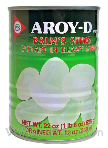 Aroy-D Attap Palm's Seeds in Heavy Syrup, 22 oz (24-Count)