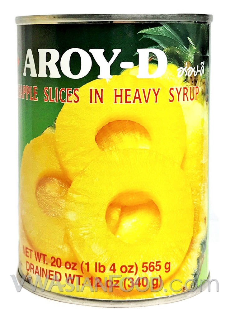 Aroy-D Pineapple Slices in Heavy Syrup, 20 oz (24-Count)