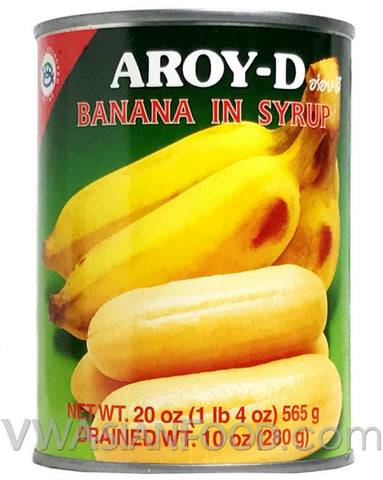 Aroy-D Banana in Syrup, 20 oz (24-Count)
