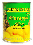 Green Fresh Pineapple Slices in Natural Juices, 20 oz (24-Count)