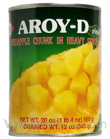 Aroy-D Pineapple Chunk in Heavy Syrup, 20 oz (24-Count)
