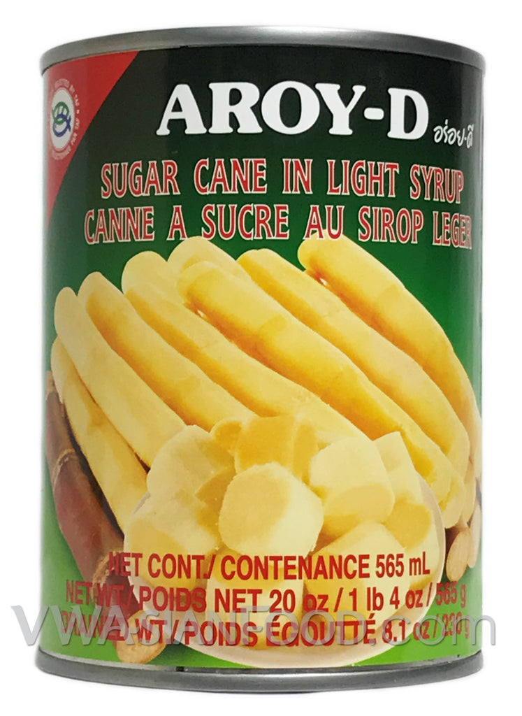 Aroy-D Sugar Cane in Syrup, 20 oz (24-Count)