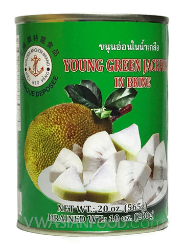 Golden Anchor Young Green Jackfruit in Brine, 20 oz (24-Count)