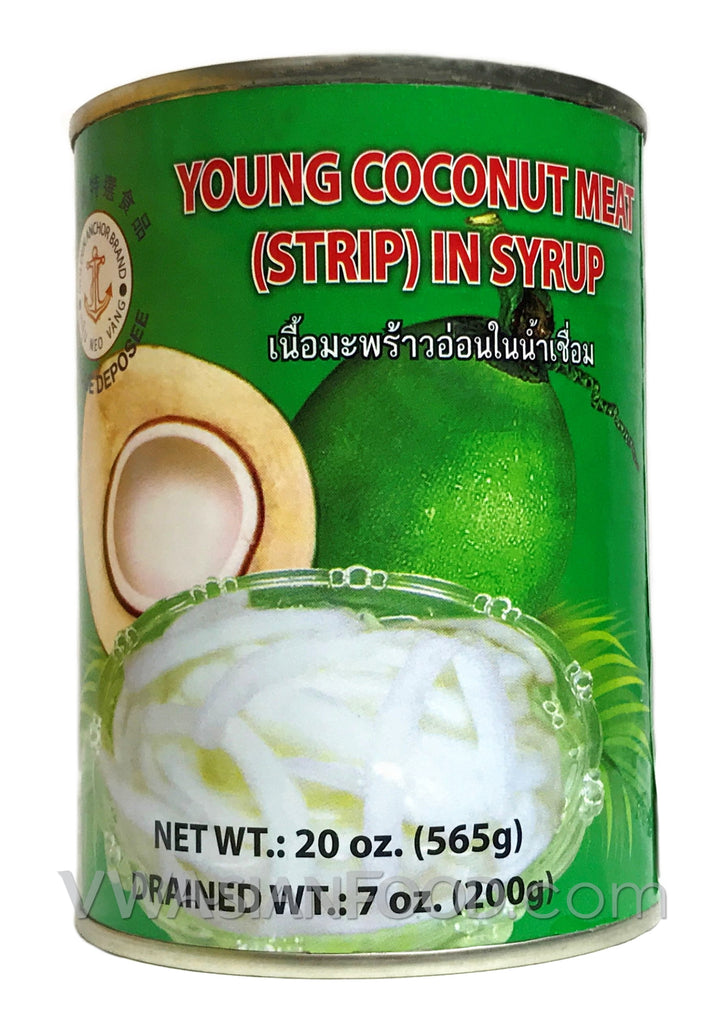 Golden Anchor Young Coconut Meat in Syrup, 20 oz (24-Count)