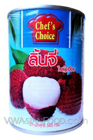 Chef's Choice Lychee in Syrup, 20 oz (24-Count)