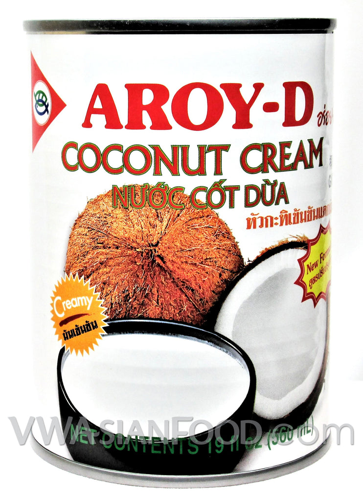 Aroy-D Coconut Cream, 19 oz (24-Count)