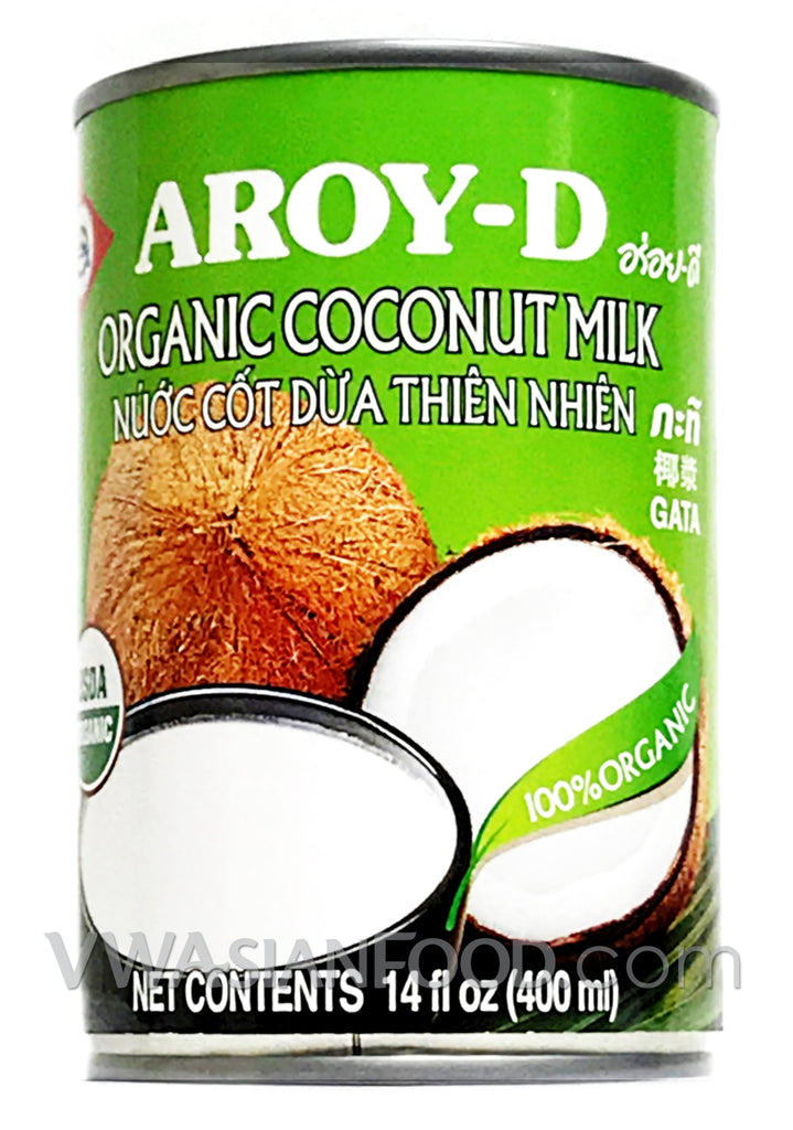Aroy-D Organic Coconut Milk, 14 oz (24-Count)