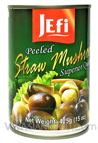 Jefi Peeled Straw Mushrooms, 15 oz (24-Count)