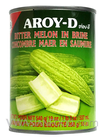 Aroy-D Bitter Melon in Brine, 19 oz (24-Count)