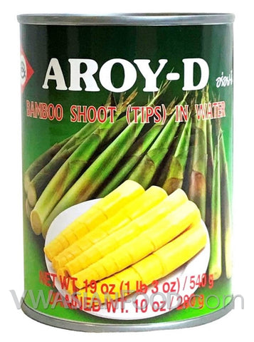 Aroy-D Bamboo Shoot Tips in Water (Strips), 19 oz (24-Count)