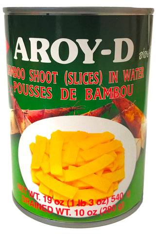 Aroy-D Bamboo Shoots in Water (Slices), 19 oz (24-Count)