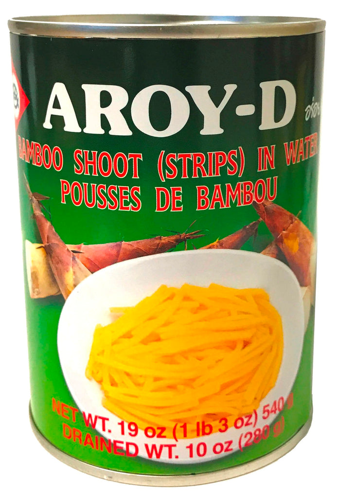 Aroy-D Bamboo Shoots in Water (Strips), 19 oz (24-Count)