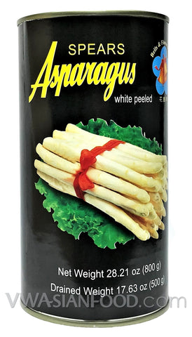 Belts & Flower Brand Spear Asparagus (White Peeled), 28.21 oz (12-Count)