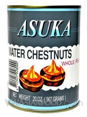 Asuka Whole Water Chestnuts, 20 oz (24-Count)