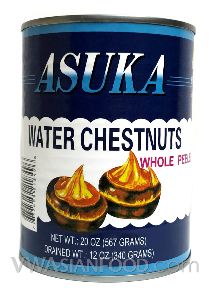Asuka Water Chestnuts Whole Peeled, 20 oz (24-Count)