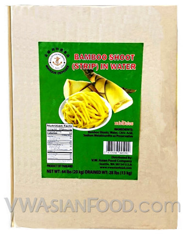 Golden Anchor Bamboo Shoot (Strip) in Water, 44-Pounds (1-Count)