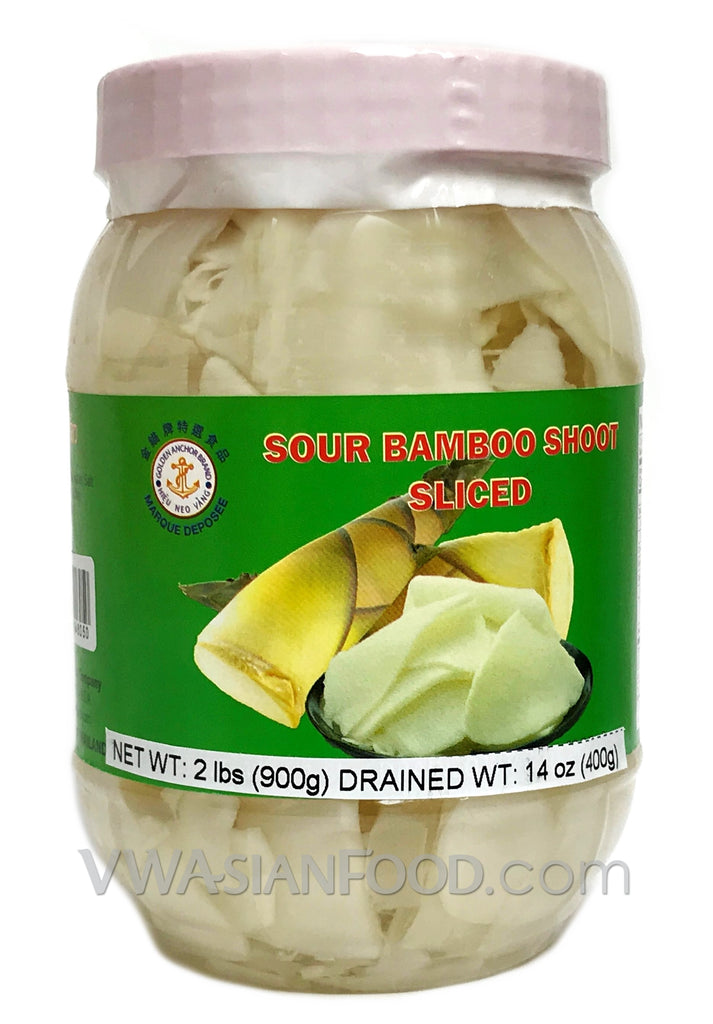 Golden Anchor Sour Bamboo Shoot (Sliced), 2 lbs (12-Count)