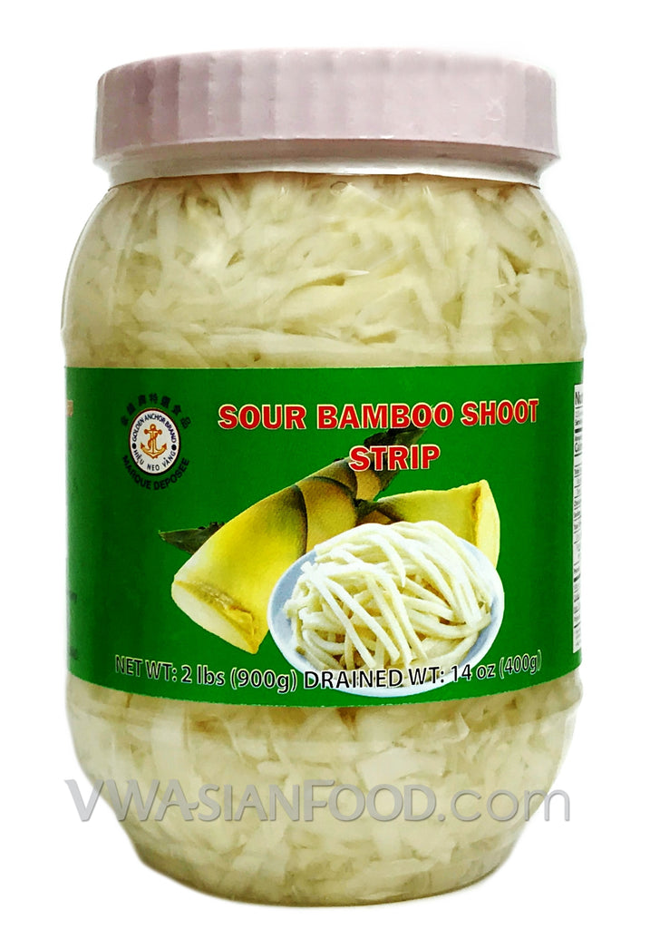 Golden Anchor Sour Bamboo Shoot Strip, 2 lbs (12-Count)