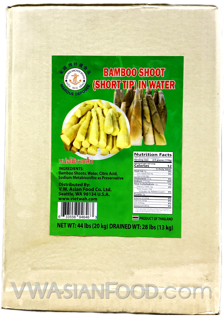 Golden Anchor Bamboo Shoot (Shor Tip) in Water, 44-Pounds (1-Count)