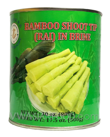 Golden Anchor Bamboo Shoot Tip (Rai) in Brine, 30 oz (24-Count)