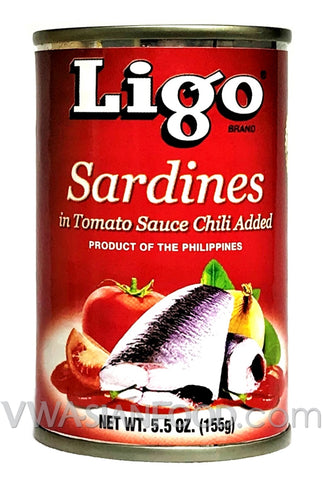 Ligo Sardines in Tomato Sauce Chili, 5.5 oz (100-Count)