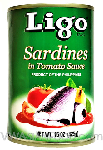 Ligo Sardines in Tomato Sauce (Large), 15 oz (48-Count)