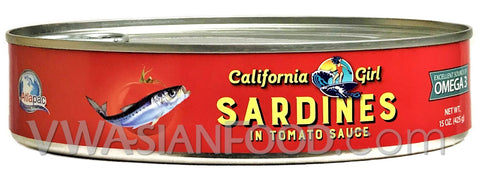 California Girl Sardines in Tomato Sauce, 15 oz (24-Count)