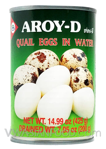 Aroy-D Quail Eggs in Water, 15 oz (24-Count)