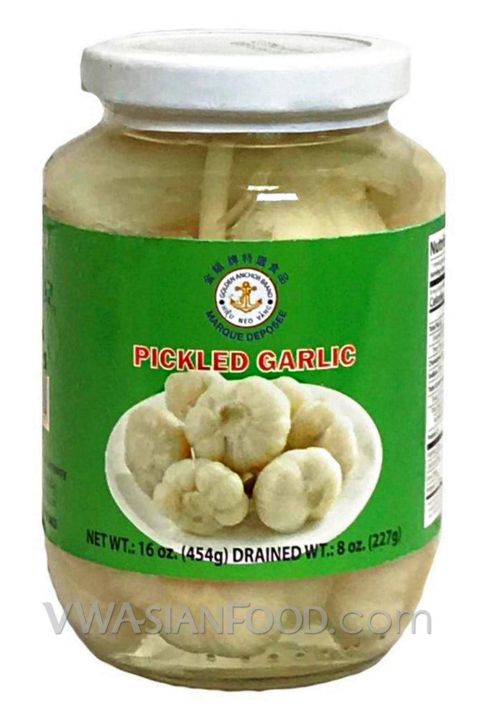Golden Anchor Pickled Garlic, 16 oz (24-Count)