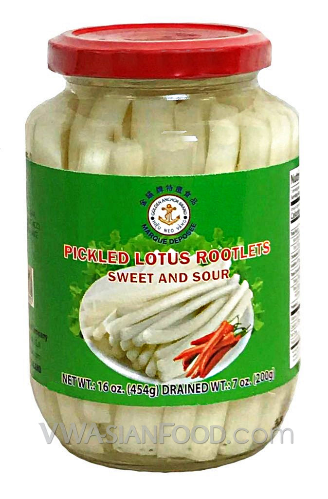 Golden Anchor Pickled Lotus Rootlet (Sweet & Sour), 16 oz (24-Count)