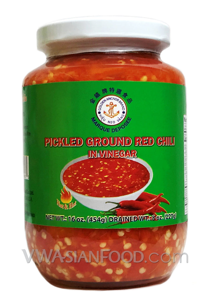 Golden Anchor Pickled Ground Red Chili, 16 oz (24-Count)