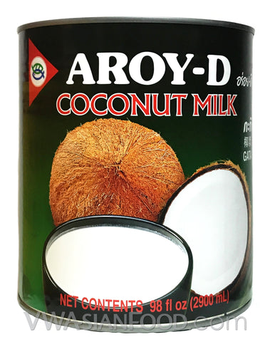 Aroy-D Coconut Milk Dessert, 98 oz (6-Count)
