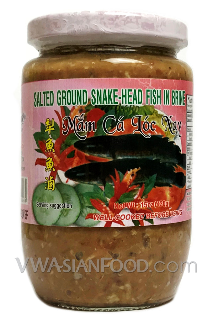 Vietnamese Lady Salted Ground Snake-Head Fish (Mắm Cá Lóc Xay) 15 oz (24-Count)