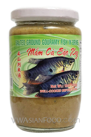 Vietnamese Lady Salted Ground Gouramy Fish (Mắm Cá Sặc Xay) 15 oz (24-Count)