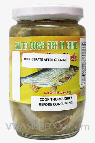 Vietnamese Lady Salted Dorab Fish in Brine (Mắm Cá Linh), 15 oz (24-Count)