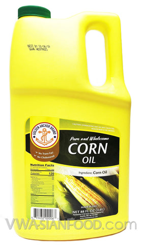 Golden Anchor 100% Corn Oil, 88 oz (8-Count)
