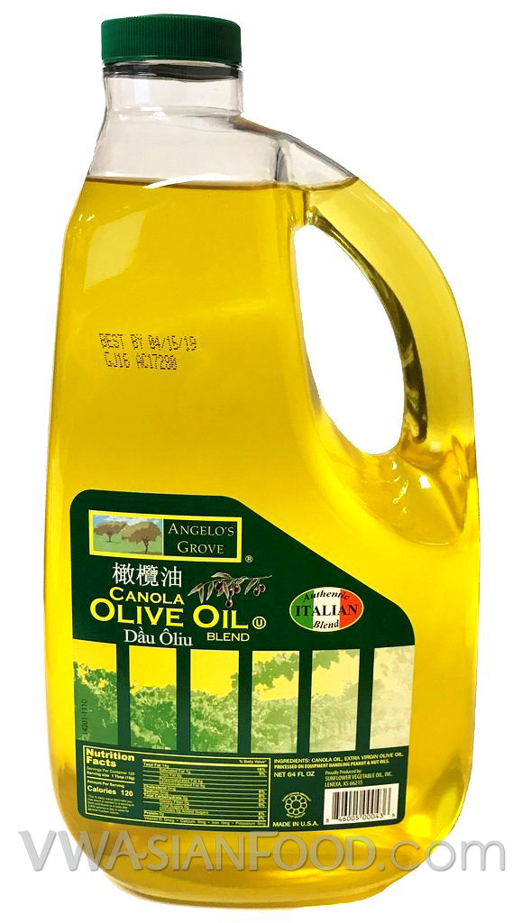 Angelo's Grove Canola Olive Oil, 64 oz (8-Count)