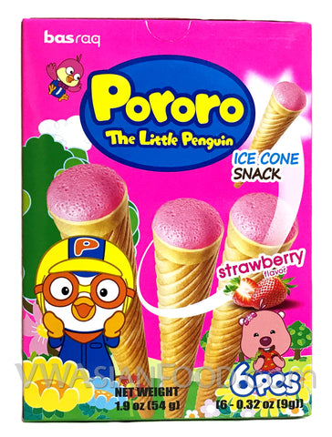 Pororo Ice Corn Snack-Strawberry 1.90 oz (20-Count)