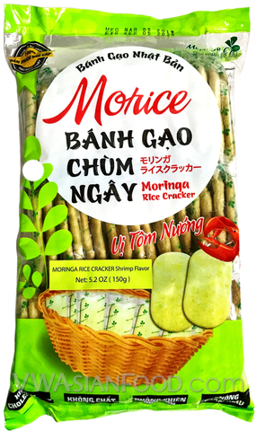 Tien Bao Moringa Rice Cracker (Shrimp Flavor), 5.2oz (24-count)