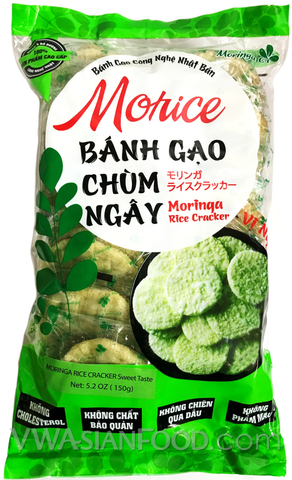 Tien Bao Moringa Rice Cracker (Sweet), 5.2oz (24-count)