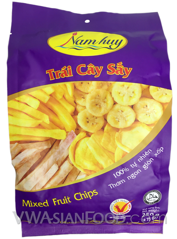 Nam Huy Mixed Fruit Chips, 7.05 oz (25-Count)