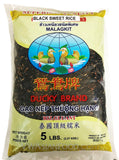 Ducky Black Glutinous (Sweet) Rice, 5-Pound Bag (10-Count)
