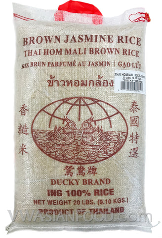 Ducky Brown Rice, 20-Pound Bag